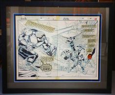 Original X-Men comic book cell custom framed with exclusively acid-free materials! If you have an item you want to preserve, come see us! Custom framed by FastFrame of LoDo. #art #framing #denver #colorado #comics #XMen