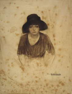 Ramon Casas y Carbó Bust of a Woman - The Largest Art reproductions Center In Our website. Low Wholesale Prices Great Pricing Quality Hand paintings for saleRamon Casas y Carbó Spanish Painters, Spanish Artists, Fine Art Drawing, Art Drawings, Drawing Stuff, Pencil Drawings, Ramones, Painting People, Drawing People