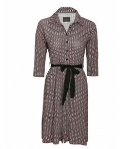 Translate Shirt Dress. Fitted jersey dress with flare from hip. Very smart. Buttonband partially sewn so no gaping. New and chic, boutique Loula Bee Liège