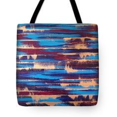 """Abstract Art Tote Bag featuring the painting """"Over The Edge"""" by #LynnTolson #FineArtAmerica #FashionToteBags #CanvasToteBags #Handbags #BeachBags #BeachTote #DesignerToteBags #AbstractOceanArt #DesignerPurses #LadiesFashion #WomensAccessories #BeachBag #LadiesPurse #CanvasBag #LadiesBags #BlueToteBag #TurquoiseToteBag"""