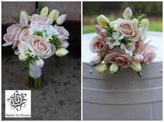 PINK CASCADE WEDDING BOUQUET | Pin Rose And Hydrangea Cascade Wedding Cake Flickr Photo Sharing Cake ...