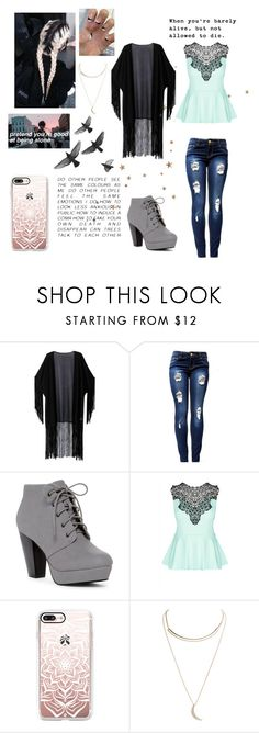"""Going Down"" by blondypup ❤ liked on Polyvore featuring WithChic, Identity, ANNA, City Chic, AME, Casetify and Wet Seal"