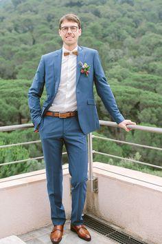 Groom in Navy Suit - Studio Ohlala | French Wedding
