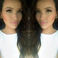 I love her makeup! She's got the best makeup tutorials; Angel Makeup, Kiss Makeup, Hair Makeup, Makeup Style, Cute Makeup, Makeup Looks, Beauty Shop, Diy Beauty, Beauty Makeup