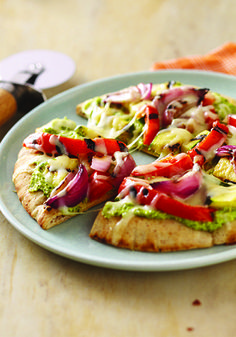 Just Veggin' Pita Pizza – This is a super-easy way to be a part of the grilled pizza trend. Your family is sure to enjoy these crispy pitas, stacked with veggies and topped with ooey-gooey cheese!