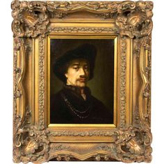 Oil Painting on Canvas of a Gentleman in the style of Rembrandt Van from revival-house-antiques on Ruby Lane Rembrandt, Gentleman Style, Ruby Lane, Oil Painting On Canvas, Van, Paintings, Antiques, Artist, House