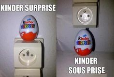 Kinder surprise et Kinder… – Puns Johnlock, Destiel, French Prepositions, Minions, Learning French For Kids, Funny French, Pokemon, Lol, Learn French
