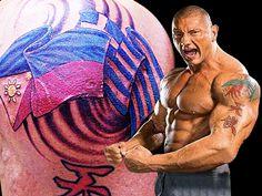 Αποτέλεσμα εικόνας για Dave Bautista greek tattoo.He has greek heritage from his mother Donna Raye.