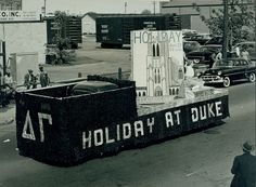 Delta Gamma Float, 1956   Duke University  Beta Theta Chapter