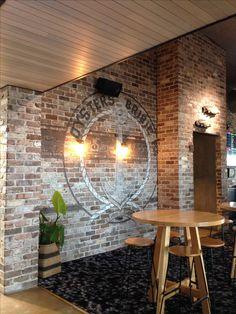 Exposed brick wall at Sandstone Point Hotel, Sunshine Coast, QLD