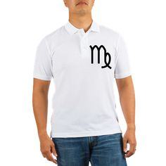 Men's white golf shirt with Virgo Is The Best Sign theme. Virgo symbolizes the ability to deal with order, details, analyzing, perfectionism, hard work; rules the digestive system, intestines, spleen and nervous system. Available in white, small, medium, large, x-large, 2x-large for only $23.99. Go to the link to purchase the product and to see other options – http://www.cafepress.com/stvirgo
