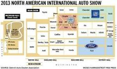 2013 North American International Auto Show layout.