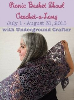 Picnic Basket Shawl CAL with @ucrafter, free #crochet pattern