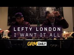 Here we have a brand new official music video from UK rap artist Lefty London. The video is to his track I Want It All which is a remix of the popular Stay Fly track originally by US rap collective Three Six Mafia, and the video was released by UK broadcaster GRM Daily