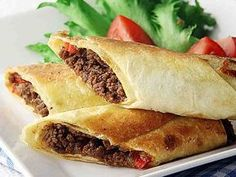 Food Obsession, Home Food, Spanakopita, Tex Mex, Cheesesteak, Sandwiches, Tacos, Goodies, Food And Drink