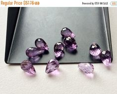 SALE 40% 10 Pcs 40 CTW Amethyst Micro Faceted by gemsforjewels