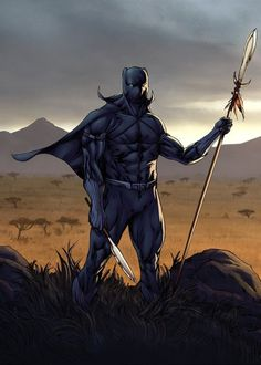 Superheroes In Full Color T'Challa by Lines by Guile Sharp Paints by MarkHRoberts Black Panther Movie 2018, Black Panther Comic, Black Panther King, Marvel Comic Universe, Marvel Comics Art, Marvel Heroes, Marvel Characters, Comics Universe, Marvel Avengers