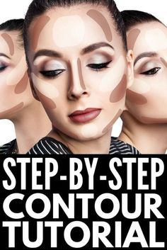 How to Contour Your Face Correctly: A St. - Want to know how to contour your face correctly, but don't know what products to use, what makeup - Contouring For Beginners, Step By Step Contouring, Makeup Tutorial For Beginners, Contouring And Highlighting, Contouring Tutorial, Makeup Contouring, Contouring Dark Skin, How To Contour For Beginners, Make Up Tutorial