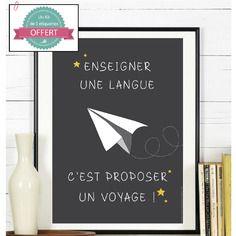 Affiche - enseigner une langue - a télécharger