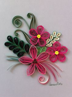 *QUILLING ~ Flowers. By Canan Ersöz.