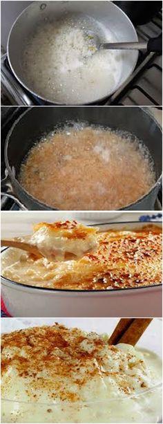Delicioso ARROZ DOCE CREMOSO...VEJA AQUI>>>Cozinhe o arroz na água com os cravos-da-índia e a casca de laranja #pudim#mousse#pave#Cheesecake#chocolate#c#receita#bolo#doce#sobremesa#aniversario#confeitaria#bolo