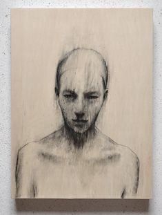 Untitled drawing by Italian artist Bruno Walpoth (b.1959). via the artist's site