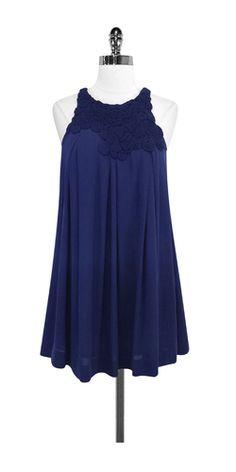 3.1 Phillip Lim Navy Silk Rosette Dress