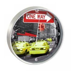 Horloge pendule murale ronde design new york 25cm - Horloge murale ...