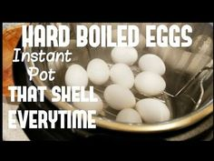 HARD BOILED EGGS Instant Pot EASY PEEL electric pressure cooker FOR BEGINNERS ultimate cook boil egg - YouTube Hard Boiled, Boiled Eggs, Lemon Pepper Wings, Boiled Peanuts, Kielbasa Sausage, Electric Pressure Cooker, Easy Peel, Chicken Stuffed Peppers, Sous Vide