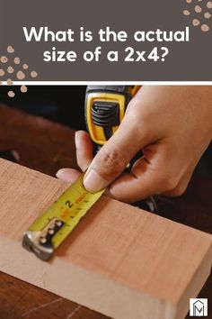 Do you ever get confused looking for lumber and finding out a 2x4 isn't 2 by 4? With this guide, we are here to break it down and lay out all the differences between nominal and actual sizes of lumber! #sized #dimensions #wood #projects