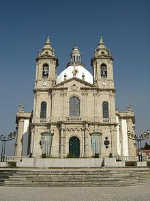 The Sameiro Sanctuary is a sanctuary located in Braga, Portugal, whose construction began July 14, 1863. The founder of this shrine was the vicar of Braga, Father Martinho António Pereira da Silva, natural Semelhe, which in 1871 did put on top of the mountain, an image of Our Lady. The sanctuary is the largest center of Marian devotion in Portugal, after Fatima.