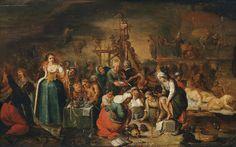 Workshop of Frans Francken the Younger - Hexenküche, 17th c  CLIK THRU