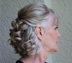 penteado para festa solto , mãe da noiva, bodas de casamento - moda anti-idade