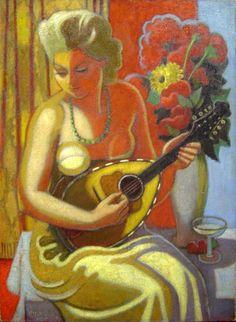 Jeune Femme à la Mandoline, 1923 - Jean Metzinger