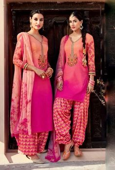 Embrace your look with this lavishing floral printed designer cotton suit. This suit is designed with embroidery patch work and it comes with beautiful printed dupatta.