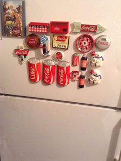 Lot Of 20 Variety Of Coca Cola Refrigerator Magnets Cap Pop Soda