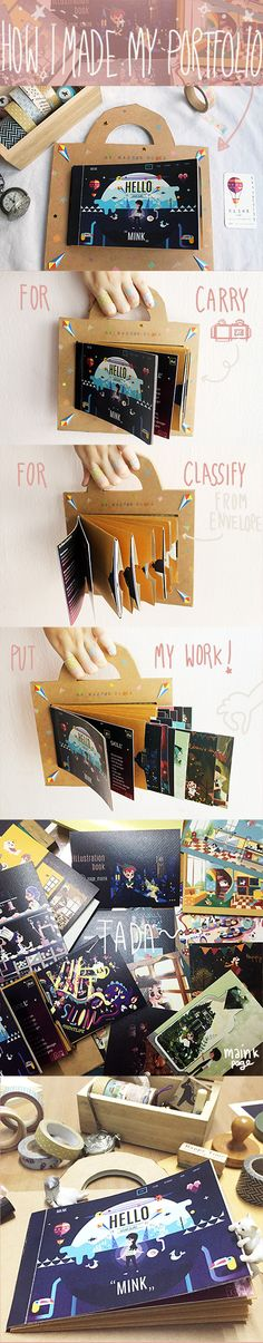 How I made my portfolio<3 #HowTo #portfolio #illustration #package #box #book #stationary #selfPromotion