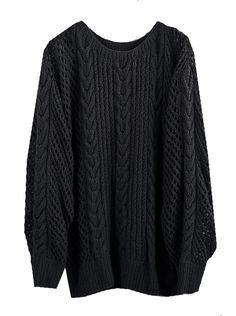 BLACK FISHERMAN SWEATER by Ryan Roche