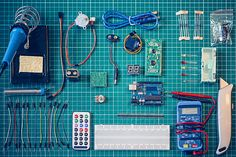 Electrial components from above by Ondine Corewijn #stocksy #realstock