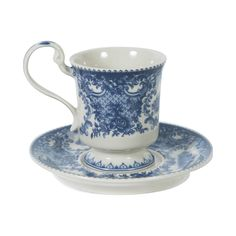 Toile de Juoy Blue Tea Cup with Saucer