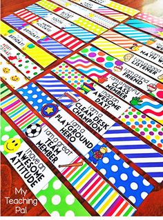 Brag Bracelets are an awesome classroom management tool and have been super popular in my classroom. Students work hard to earn them and are super excited when they receive one! I particularly love the fact that students get to take them home which helps to create a positive teacher/parent communication channel. This pack includes 25 different COLOR brags bracelets to use for multiple occasions.