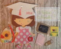 The+Graduate++Felt+Doll+Graduation+Set+by+NettiesNeedlesToo,+$18.00