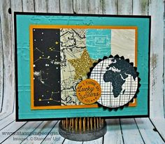 Masculine Inspired Textures and Prints with New Going Places Product Suite by Stampin' Up! . . . details on my blog . . .www.stampingeorgia.com
