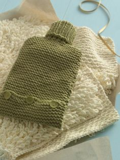 Water Bottle Cover Knitting Pattern Perfect Xmas Gift Easy To Make