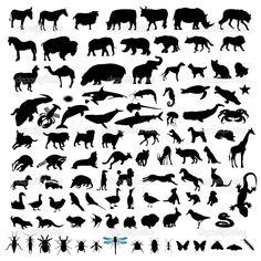 PINTEREST SILUETAS DE ANIMALES - Buscar con Google