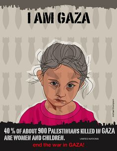 I am Gaza by freestylee, via Flickr