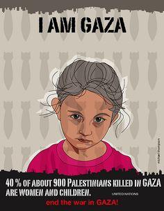 I am Gaza by freestylee, via Flickr