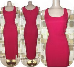 Vintage 80s Red HOT Side Slit BOMBSHELL Wiggle by IntrigueU4Ever, $49.00