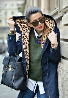 Outfit Of The Day: Animalier Touch- casual layers with a touch of flash