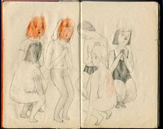Sketchbook drawings by Julia Selin